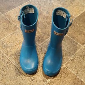 Hunter boots blue boy's size 11 US / 10 UK